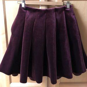 LC Runway Velvet Pleated Skirt